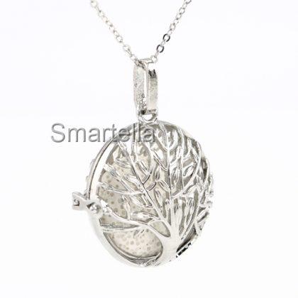 Tree of Life Aroma Pad Necklace
