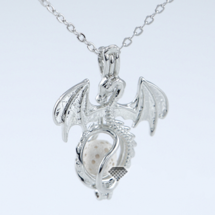 Dragon Locket Pendant Necklace