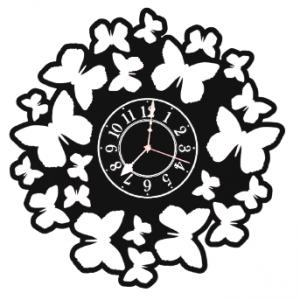 Butterfly Cutout Clock